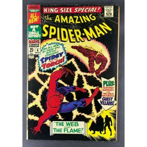 Amazing Spider-Man Annual (1967) #4 FN- (5.5) Vs Human Torch Battle Cover