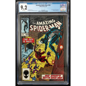 Amazing Spider-man (1963) #265 CGC 9.2 1st Appearance Silver Sable (156368021)
