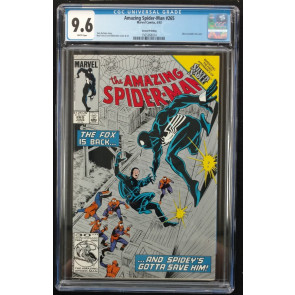 Amazing Spider-man (1963) #265 CGC 9.6 Silver Metallic Ink Cover  (156368024)