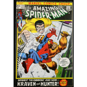 AMAZING SPIDER-MAN #111 VF- KRAVEN THE HUNTER