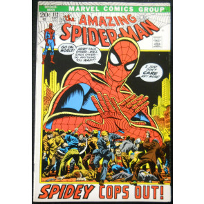 AMAZING SPIDER-MAN #112 FN+ SPIDEY COPS OUT