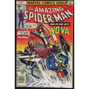 AMAZING SPIDER-MAN #171 VF/NM EARLY NOVA CROSSOVER