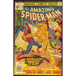 AMAZING SPIDER-MAN #173 VF- VS MOLTEN MAN