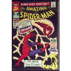 AMAZING SPIDER-MAN ANNUAL #4 FN/VF VS HUMAN TORCH