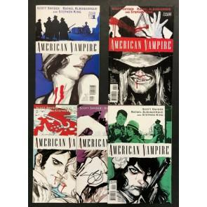 American Vampire (2010) #'s 1 & 2  Second Print #'s 3 4 5 1st Print Complete Set