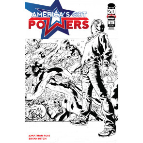 AMERICA'S GOT POWERS #1 NM 2ND PRINTING BRYAN HITCH JOHNATHAN ROSS IMAGE COMICS