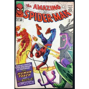 Amazing Spider-Man (1963) #21 FN- (5.5) 2nd app Blue Beetle