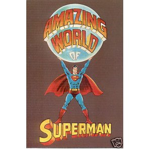 AMAZING WORLD OF SUPERMAN 1972 POSTCARD FREE SHIPPING