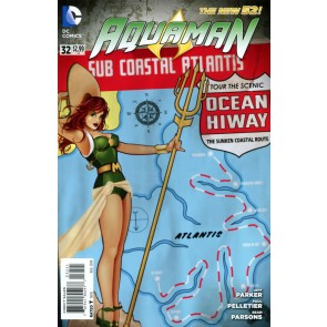 Aquaman (2011) #32 VF/NM-NM Bombshells Variant Cover The New 52!