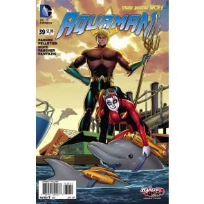 Aquaman (2011) #60 VF/NM-NM Harley Quinn Variant Cover The New 52!