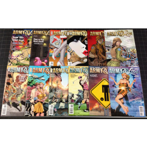 ARMY @ LOVE (2007) #1 2 3 4 5 6 7 8 9 10 11 12 COMPLETE RICK VEITCH VERTIGO SET