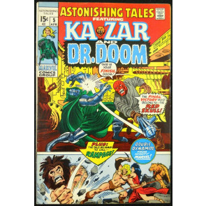 ASTONISHING TALES #5 FN/VF KA-ZAR & DR. DOOM
