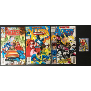 Avengers X-Men complete 5 part Bloodties set NM (9.4) with checklist 368 369