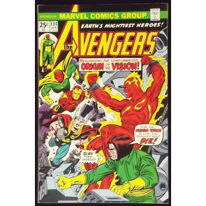 AVENGERS #134 VF ORIGIN OF VISION REVISED ULTRON GOLDEN AGE HUMAN TORCH