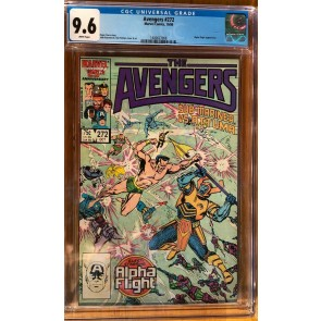 Avengers (1963) #272 CGC 9.6 Under Siege Part 3 of 8 (1400627008)