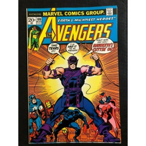 Avengers (1963) #109 FN+ (6.5) Rich Buckler 1st Champion Hawkeye Leaves Team