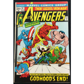 Avengers (1963) 97 VF (8.0) Kree-Skrull War part 9 of 9 GA Cap Torch Sub-Mariner