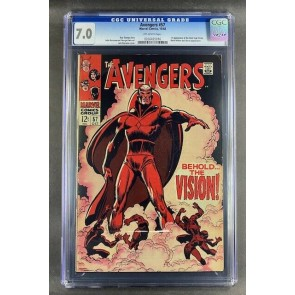 Avengers (1963) #57 CGC 7.0 1st Appearance Silver Age Vision (0266435016)