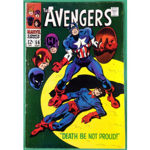 AVENGERS (1963) #56 VG/FN (5.0) Cap explains ice imprisonment during WWII from 4