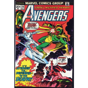 Avengers (1963) #116 VF- (7.5) Avengers Defenders War part 2 & 3 Silver Surfer
