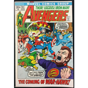 Avengers (1963) #98 VF (8.0) Barry Smith cover & art