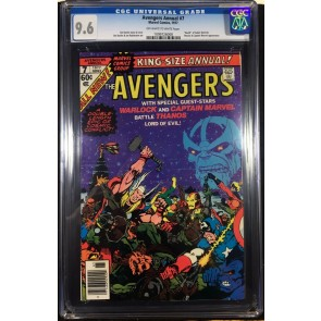 Avengers (1977) Annual #7 CGC 9.6 Death of Adam Warlock Thanos app (1099726008)