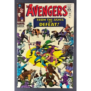 Avengers (1963) #24 FN+ (6.5) 4th Appearance Kang Jack Kirby Don Heck