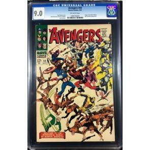 Avengers (1963) #44 CGC 9.0 Origin Black Widow Red Guardian app (1099756001)