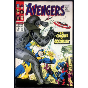 Avengers (1963) #37 FN/VF (7.0) vs Ixar and Ultroids