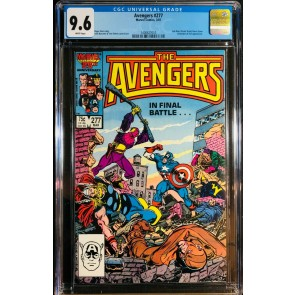 Avengers (1963) #277 CGC 9.6 Under Siege Part 8 of 8 (1400627010)