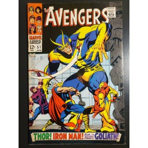"""Avengers #51 (1968) FVF (7.0) """"In the Clutches of the Collector"""" 