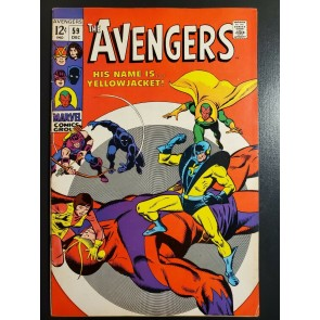 Avengers #59 (1968) VF- (7.5) 1st Appearance Yellowjacket John Buscema art|