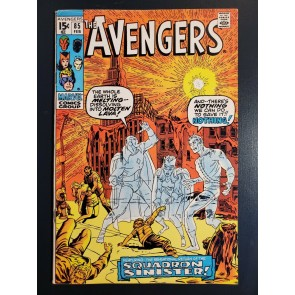Avengers 85 F+ (6.5) 1st app. Squadron Supreme Bronze age Key Heroes Reborn|