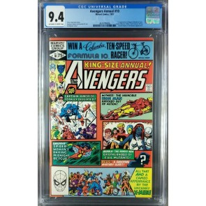 Avengers Annual #10 (1981) CGC 9.4 NM OWW 1st appearance of Rogue (3824799006)|
