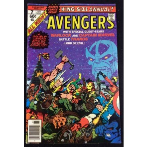 Avengers Annual (1977) #7 VF (8.0) 1st app Infinity Gems & Death of Thanos