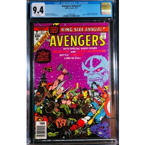 Avengers Annual (1977) #7 CGC 9.4 Thanos app Death of Warlock (1400627003)