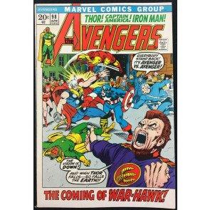 Avengers (1963) #98 VF (8.0) Barry Smith cover & art