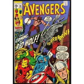 Avengers (1963) #80 VF+ (8.5) 1st app Red Wolf