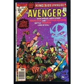 Avengers Annual (1977) #7 VF+ (8.5) 1st app Infinity Gems & Death of Thanos