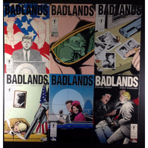 Badlands (1991) 1-6 complete set President Kennedy covers Dark Horse Crime