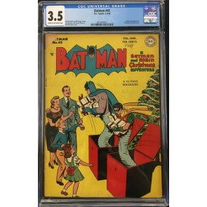Batman (1940) #45 CGC 3.5 Catwoman app Christmas cover & story (2019703011)