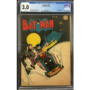 Batman (1940) #26 CGC 3.0 white pages Alfred back-up story (2019703004)