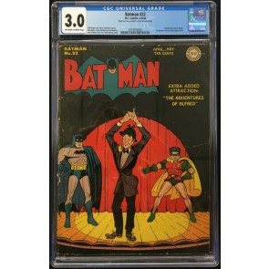 Batman (1940) #22 CGC 3.0 off-white to white pages Catwoman app (2019703002)