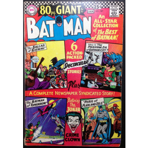 BATMAN (1940) #187 VG+ (4.5) Joker cover and story 80 page giant