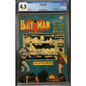 Batman (1940) #48 CGC 4.5 Penguin app 1,000 Secrets of the Batcave (2019703013)