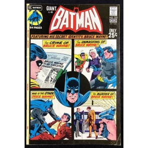 Batman (1940) #233 FN+ (6.5) Giant Size (G-85)
