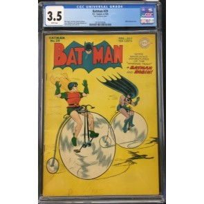 Batman (1940) #29 CGC 3.5 white pages Alfred back-up story (2019703006)