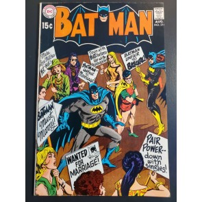 "Batman #214 (1969) VF+ (8.5) ""Batman's Marriage Trap"" Women Protest cover 