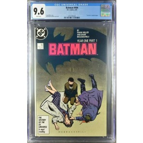 BATMAN #404 CGC 9.6 NM+ WHITE PAGES FRANK MILLER YEAR ONE PT 1 3701792020 |