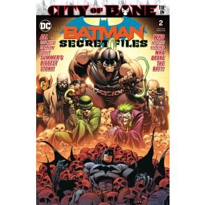 Batman Secret Files (2019) #2 VF/NM-NM Andy Kubert City of Bane Tie-In